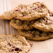 Walnut Cranberry Oatmeal Cookies
