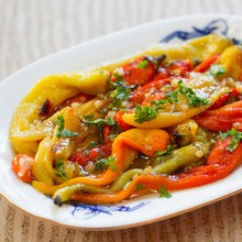 Orange-Glazed Peppers & Zucchini