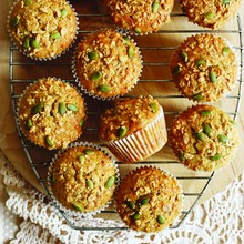 3-Seed Maple Banana Muffins