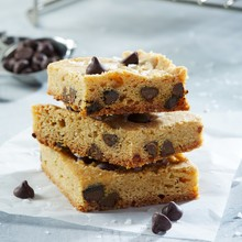 Almond Butter Chocolate Chip Blondies
