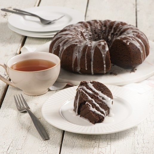Chocolate and Maple Bundt Cake with Maple Glaze