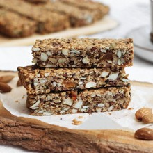 Maple Almond Muesli Bars (gluten-free)
