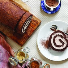 Maple Spice Chocolate Swiss Roll
