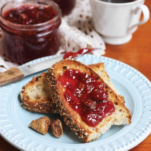 Strawberry Ginger Fig Jam