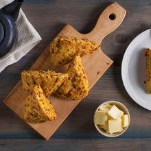 Toffee and Pumpkin Spice Scones